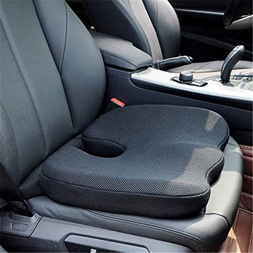 Cojín del asiento del conductor del automóvil, utilizado para el conductor, silla de oficina, silla de ruedas, soporte del coxis, alivio del dolor de espalda, cojín del asiento de espuma viscoelástica
