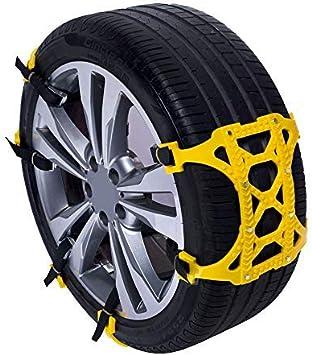 ALEKO SCP04 Adjustable Emergency Anti-Skid Snow Chain Belt Yellow Lot of 6: image