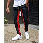 Fashion Shopping FLYFIREFLY Men's Gym Sport Pants Hip Hop Slim Fit Track Pants Workout Running
