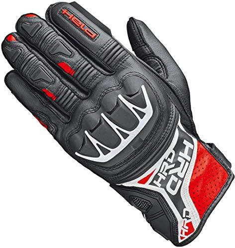 Held Motorradhandschuhe lang Motorrad Handschuh Kakuda Handschuh schwarz/rot 9, Herren, Sportler, Ganzjährig, Leder