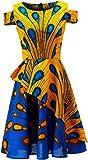 HongyuAmy African Print Dress Dashiki Fashion Wedding Dresses (Medium, Color A)