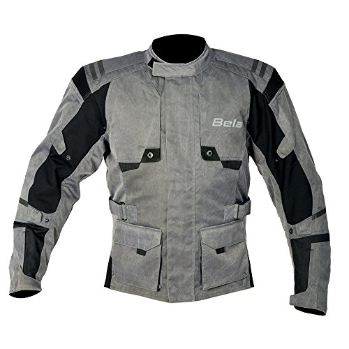 Bela Chaqueta moto textil para los hombres Alpha Vintage Gris (XL)