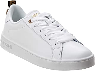 ROBERTO CAVALLI Classic Leather Sneaker, 38, White
