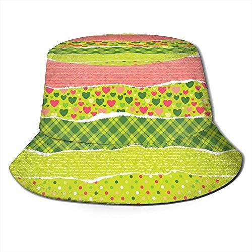 Henry Anthony Unisex Eimer Hut Papier mit Weihnachtsmustern gedruckt Outdoor Sun Hat Sommerreise Outdoor Cap Schwarz