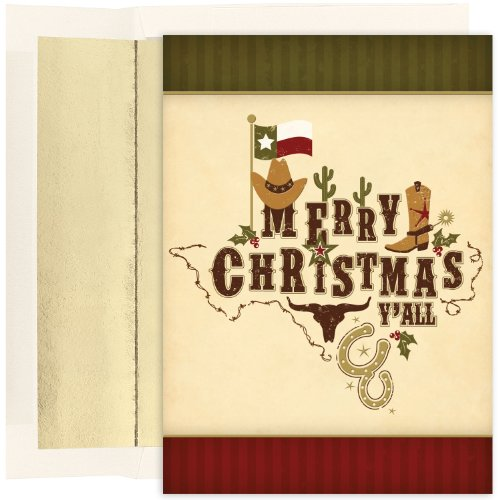 Masterpiece Studios Boxed Cards, 18-Count, Merry Christmas Y'All (836000)