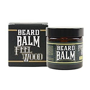 HEY JOE - Beard Balm Nº4 FEEL WOOD 50ml | Balsamo para barba 50ml con ARGÁN, JOJOBA, COCO y manteca de KARITÉ. Aroma a CEDRO Y ENEBRO