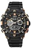 Q&Q Reloj multifunción analógico/digital para hombre, de cuarzo, color negro