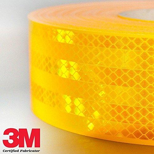 StickersLab Reflektierende 3M-Klebefolie/Klebeband, homologiert, Diamond Grade 983, für die Markierung von Fahrzeugen, rot, weiß oder gelb, Verkauf je Meter