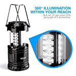 Vont 4 Pack LED Camping Lantern, LED Lanterns, Suitable Survival Kits for Hurricane, Emergency Light for Storm, Outages… 8 Bright & Lasting: Equipped with 30 crazy bright leds, this compact lantern cuts through 360 degrees of darkness on the stormiest, dimmest nights. Easily lights up the entire tent or room. Compact & Lightweight: Collapsible design that reduces or increases the light as you collapse or expand the lantern. When collapsed it's as small as your phone. Easily fits in your backpack or emergency kit. Waterproof: Constructed with aircraft grade materials: your lantern is able to survive a 10-foot drop and being temporarily submerged under water.