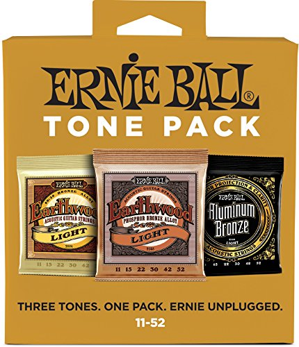 Ernie Ball Light Tone Pack (11-52) Acoustic Guitar Strings (P03314)