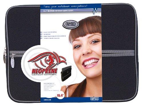 SWEEX Notebook Sleeve 39,1 cm 15,4 inch neopreen Notebook Sleeve zwart, Wetsuite materiaal