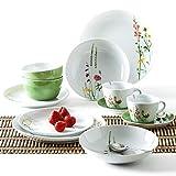 Kahla 39F217A50002C MG Wildblume Design 2 Go Set Geschirrset für 2 Personen Porzellanservice 12-teilig Blumen Tafelservice Tasse Untertasse Teller Schale bunt