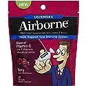 Airborne Vitamin C 1000mg Immune Support Supplement, Lozenges, Berry Flavor, 20 Count