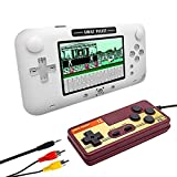 EASEGMER Handheld Game Console, Portable Game Player Built-in 500 Classic Games 4 Inch Retro Gaming System, Support TV/AV 12 Bit Rechargeable Video Game Console, Best Gift for Kids and Adults (White)