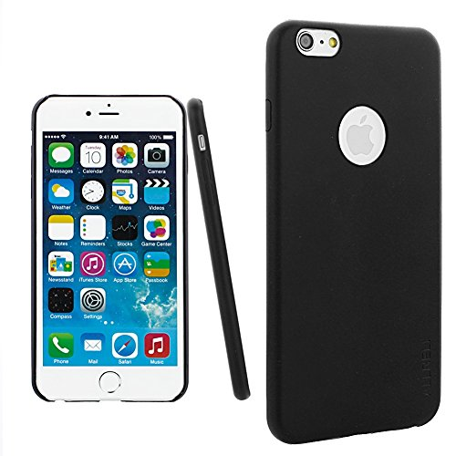 "iPhone 6S Plus Case, aLLreLi [Slim Fit] iPhone 6 Plus [Thinnest Leather] Case Black - Premium PU Leather Cover for iPhone 6 / 6S Plus 5.5"" Screen"
