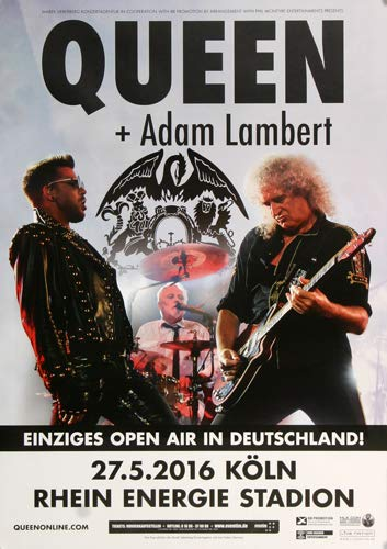 Queen Live In Köln, Köln 2016 - Póster de concierto en directo, DIN A1