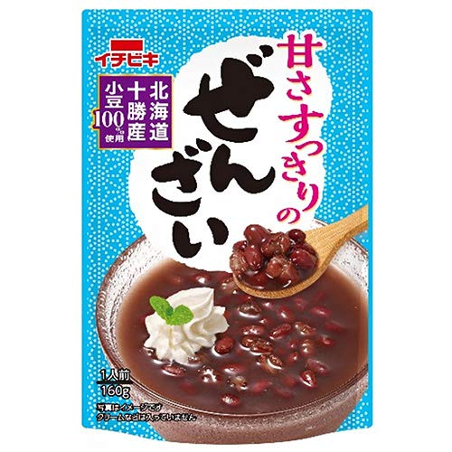 イチビキ 甘さすっきりのぜんざい 160g×20(10×2)袋入×(2ケース)