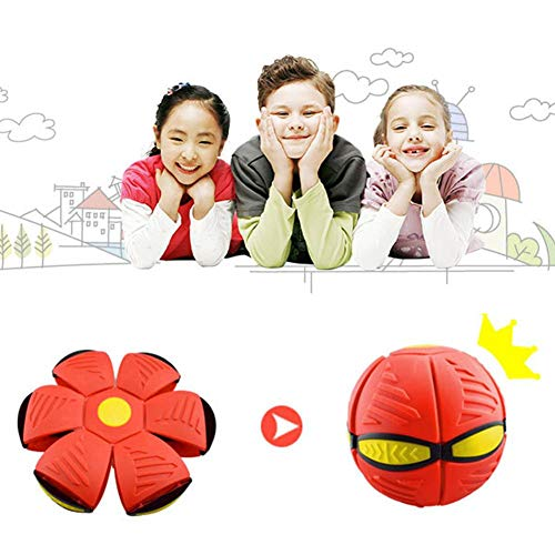knowledgi Frisbes-Verformung UFO-Ball Mit Lichter Magic Vent Ball Frisbees-Verformung Ball Eltern-Kind Hund Strand Kinder Spielzeug Bumerang