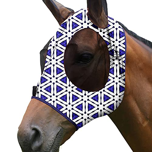 Harrison Howard Superior Comfort - Máscara de mosca para caballo con protección UV de malla suave para prisma de caballo