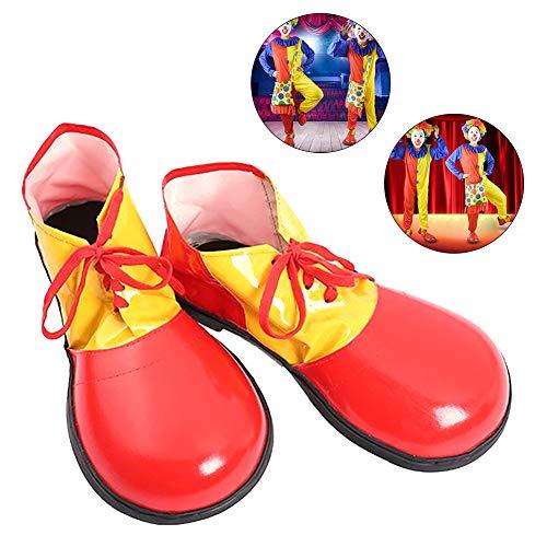 RainbowBeauty - Kostümschuhe für Erwachsene in Rot, Größe Small
