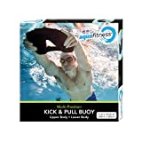 Aqua Fitness, 3-in-1- Combo Swim Buoy, Pull Buoy, Kick Buoy and Swimboard Buoy, Swimming Kickboard, for All Ages, Children and Adults