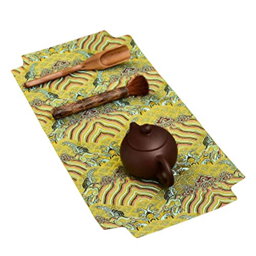 Wukong Paradise Yunjin Linen Table Runner Broderie Tapis De Thé Plateau Pad Tea Accessoires-A01