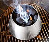 LUTANI 10 inch BBQ Kettle Grills 22 26.75 WSM for Vortex Weber- Stainless Steel...