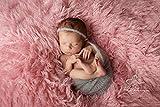 Baby Haarband + Wrap Mohair Set Neugeborene Gr. 50/56