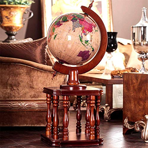 Globus Globe Retro Weltkugeln 360 ° Rotation Educational Weltkugel...