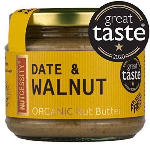 Nutcessity | Organic Date & Walnut Butter | 180g | Great Taste 1 Star 2019 & 2020 | Vegan, High in Omega-3, Peanut-Free, Plastic-Free Certified, Paleo, No Added Sugar