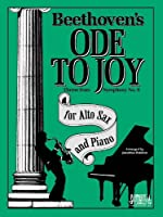 Ode To Joy / Alto Sax & Piano 1585601632 Book Cover
