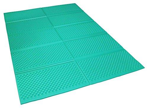 サンドリー 折りたたみクッションマット グリーン 約200×140×厚0.8cm