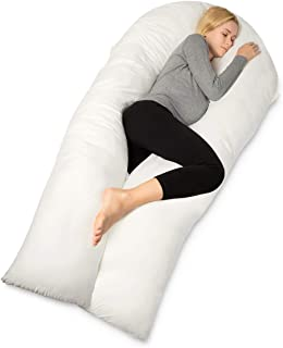 QUEEN ROSE Pregnancy Full Body Pillow-65in U Shaped Maternity Pillow for Pregnant Women,Includes White Cover