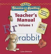 Saxon Phonics & Spelling, Vol. 1, Grade 2, Teacher's Manual