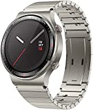 HUAWEI Porsche Design Watch GT 2 Smartwatch, 1,39 Zoll AMOLED HD-Touchscreen, 2 Wochen Akkulaufzeit, GPS und GLONASS, SpO2, 100+Trainingsmodi, Bluetooth-Anrufe, Herzfrequenzmessung, Titanium