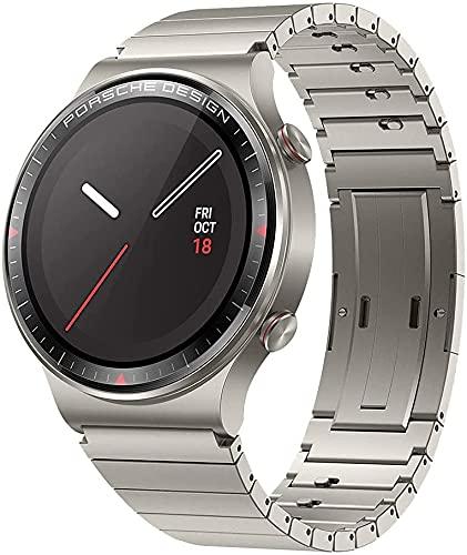 HUAWEI Porsche Design Watch GT 2 Smartwatch, 1,39 Zoll AMOLED HD-Touchscreen, 2 Wochen Akkulaufzeit, GPS & GLONASS, SpO2, 100+Trainingsmodi, Bluetooth-Anrufe, Herzfrequenzmessung, Titanium