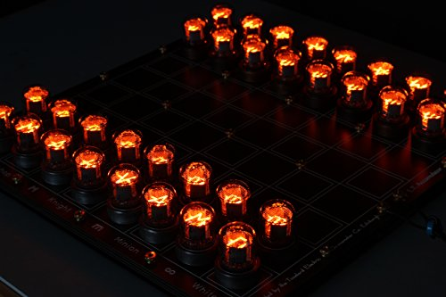 Lasermad Nixie Chessboard - fully assembled IN-7 version. steampunk buy now online