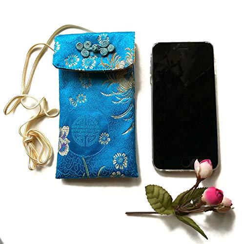 SKYLULU Bolsa de teléfono Celular de Brocado Retro de Estilo Chino, Bolsa de teléfono Celular, Unisex