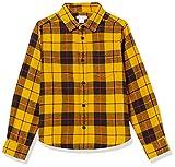 Amazon Essentials Camisa de Franela para niños, Cuadros Amarillos, 6-7 años