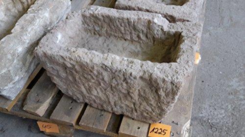Der Naturstein Garten Alter Trog aus Granit 38 cm lang Brunnen Steintrog - G1225 Granittrog Waschbecken