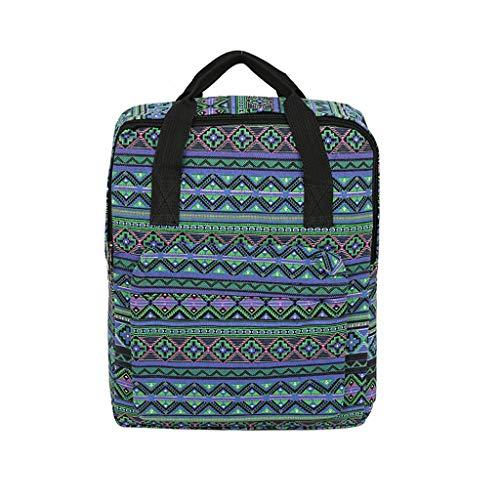 pequeño y compacto Mochila escolar URIBAKY con cremallera bidireccional, mochila de lona para niñas…