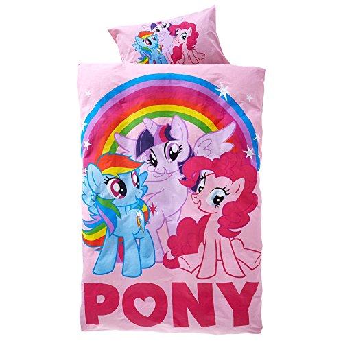 Unbekannt Original My Little Pony Wende-Bettwäsche Garnitur 135x200 80x80 Baumwolle
