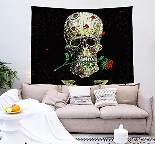 NTtie Tapestry,Colgar en la Pared, Tela Decorativa con Estampado de Calaveras para Colgar