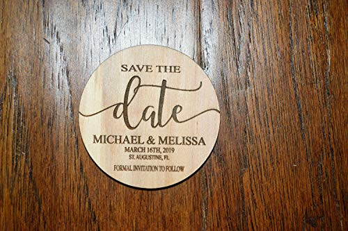 50Pcs Round Wooden Wedding Magnets, Save The Date Magnet, Save The Date Magnets, Save The Date, Wood Save The Date Magnet, Personalized Save The Date Magnet, Wedding