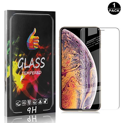 Bear Village® Verre Trempé pour iPhone 11 Pro Max 6.5, Film Protection Écran Vitre HD pour iPhone 11 Pro Max 6.5, Dureté 9H, 3D-Touch, Installation Facile, 1 Pièces