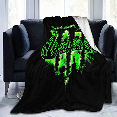 """3322 M-Onster En-Ergy Lightweight Super Soft Blanket Cozy Luxury Warm Plush Blanket for Bed Couch Sofa 50"""" X40"""
