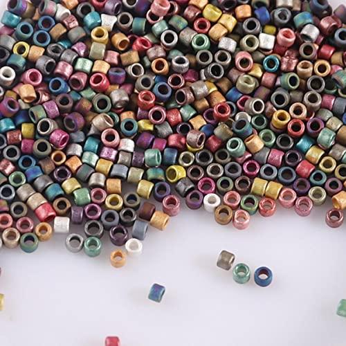 1.6mm 15/0 vetro opaco perline giapponesi fascino per gioielli che fanno collana braccialetto accessori fai da te accessori-mix di colori, 1.6mm 1800 pezzi