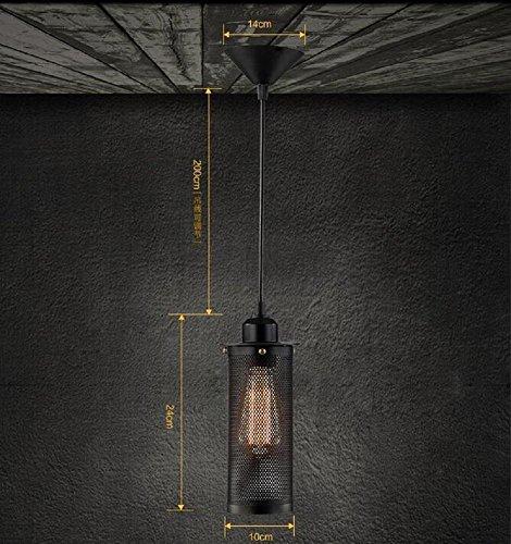 H&M Kronleuchter Industrie-Retro-Stil Einkopf- Kronleuchter Terrasse Restaurant Bar Loft Art Metall Schmiedeeisen Kronleuchter mit kreativer Explosion