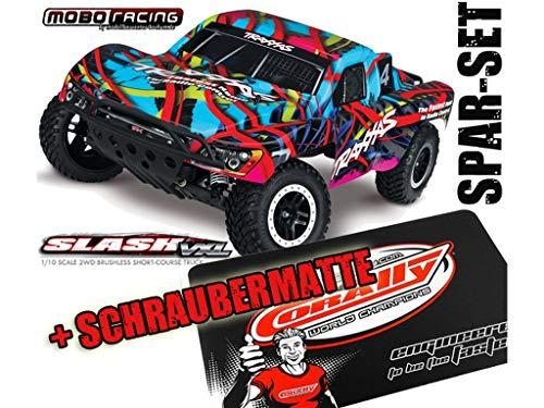 Traxxas 58076-4 Slash VXL Pro 2WD Brushless TSM Hawaiian Ed. + Schraubermatte + mobo-Racing Sticker