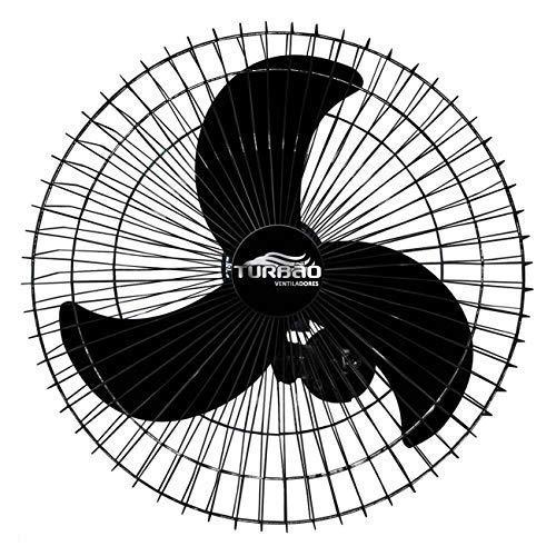 Ventilador de Parede Oscilante 60cm Preto Turbão 200W Bivolt